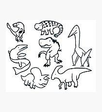 Cretaceous Critters Photographic Print