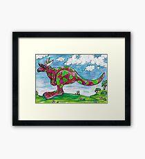 Prue the Pink Kangaroo Framed Print