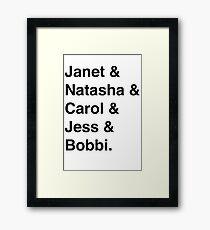 Avengers Ladies (Black) Framed Print
