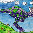 Priscilla the Purple Kangaroo by kewzoo