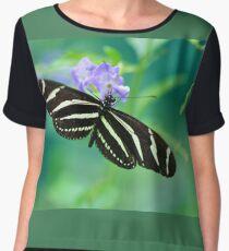 Zebra Longwing - Heliconius charitonia Chiffon Top