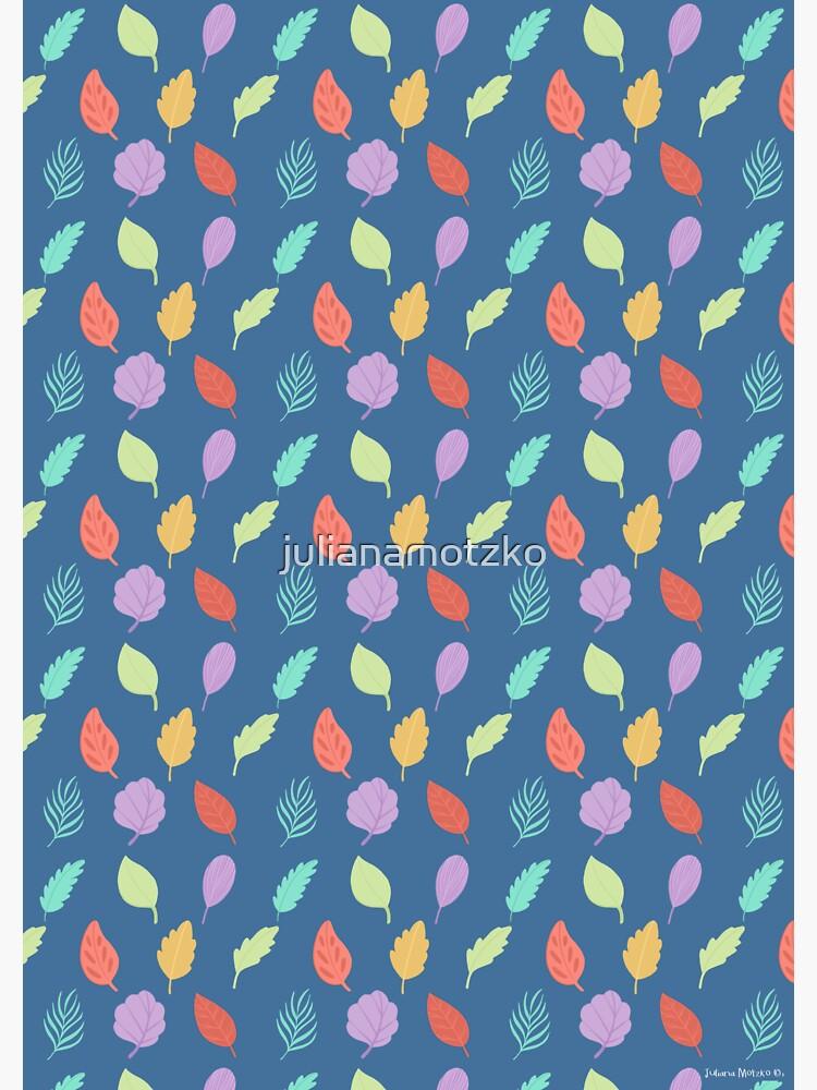 Colorful Leaves Pattern by julianamotzko