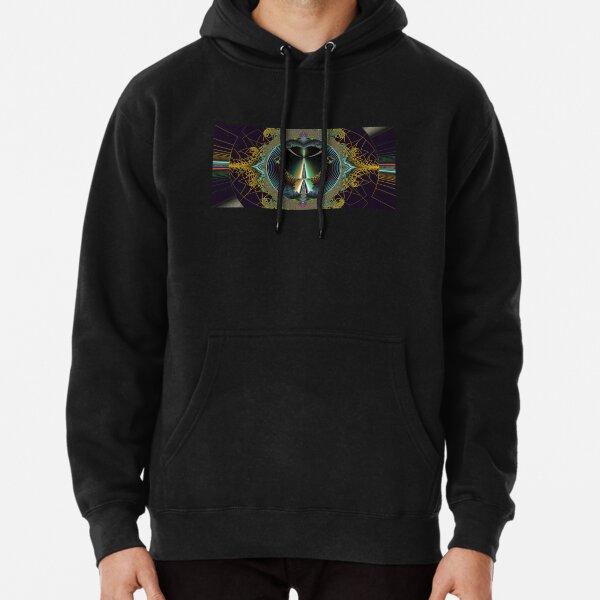 Retro Mandelbrot Set Fractal Digital Abstract Art  Pullover Hoodie