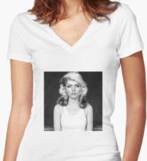 Sexy blondie Women's Fitted V-Neck T-Shirt