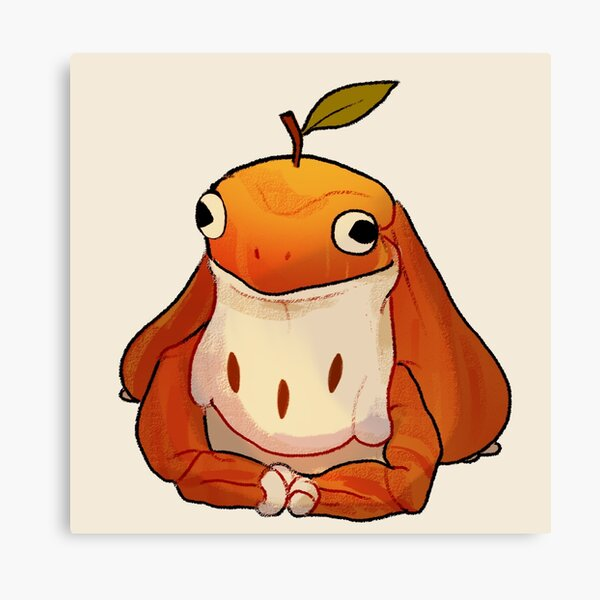 Apple Froggy Canvas Print