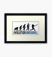 Baseball Evolution Of Man Framed Print