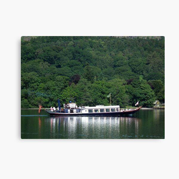 Steam Yacht Gondola, Coniston Water, Lake District National Park, Cumbria, UK Canvas Print