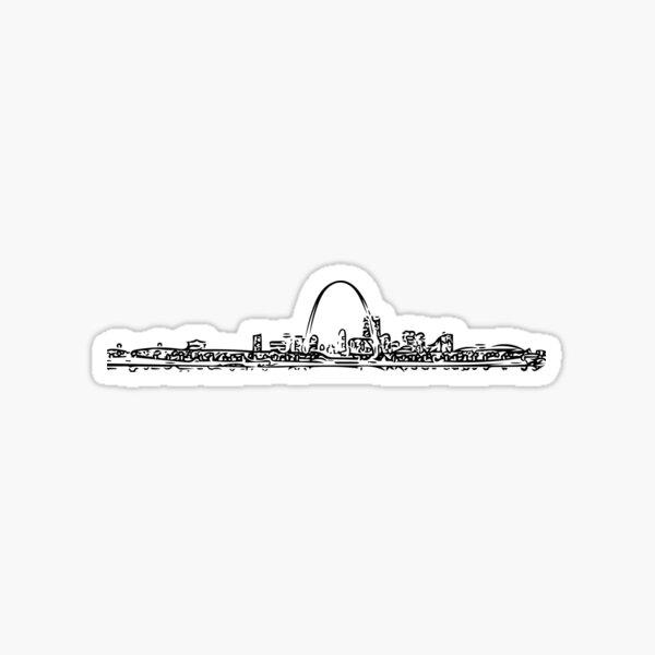 Saint Louis Skyline Sticker