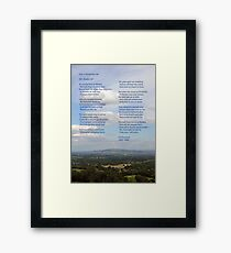 Bredon Hill - the view and the poem. Framed Print