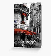 French Cafe at Notre Dame Greeting Card