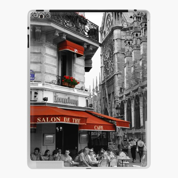 French Cafe at Notre Dame iPad Skin