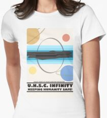 Minimalist Recruitment Poster for the U.N.S.C Infinity Women's Fitted T-Shirt