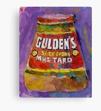 Gulden's Spicy Brown Mustard Canvas Print