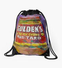 Gulden's Spicy Brown Mustard Drawstring Bag