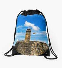 Galle Clock Tower & Fort. Drawstring Bag