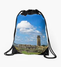 Galle Fort & Clock Tower. Drawstring Bag
