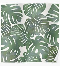 Tropical Leave pattern 1` Poster