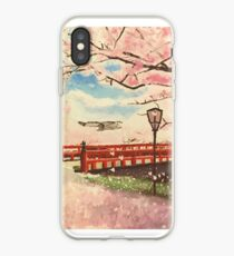 Japanese Cherry Blossom Painting iPhone Case
