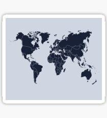 The World (Light&Dark Blue) Sticker