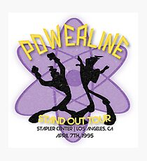 Vintage Powerline Concert Logo - A Goofy Movie Photographic Print