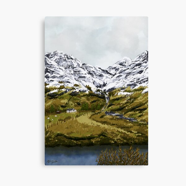 Glencoe in Winter Canvas Print