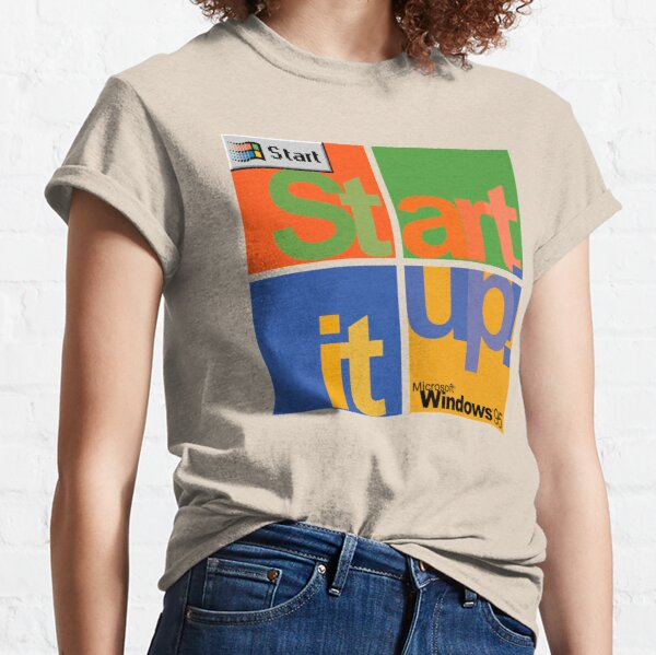 Start It Up! - Microsoft Windows 95 Classic T-Shirt