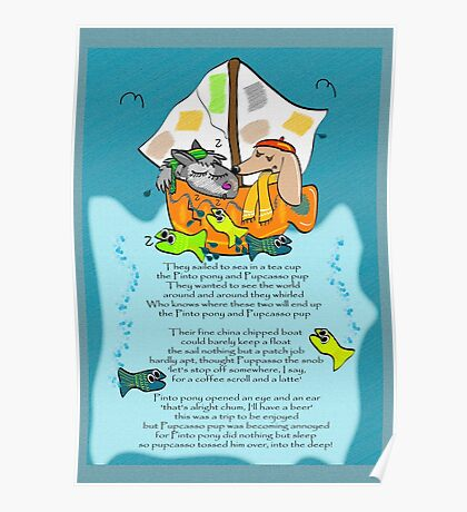 They sailed to sea in a tea cup Poster
