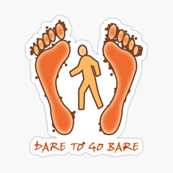Barefoot Sticker