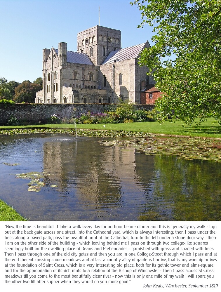 The poet John Keats describes his walks from Winchester to St Cross. by Philip Mitchell