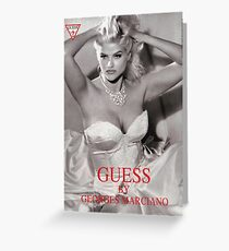 anna nicole smith guess ad gown Greeting Card