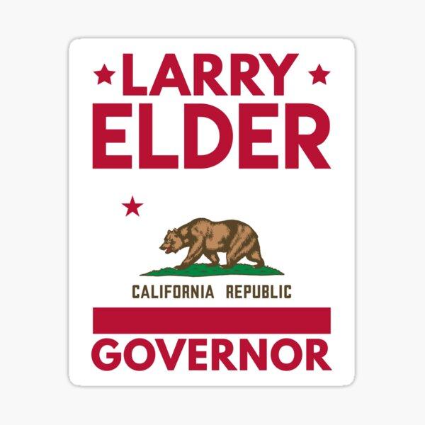Larry Elder for California Governor flag Sticker
