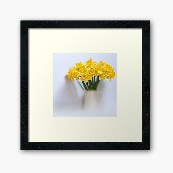 Daffodils in Jug Framed Art Print