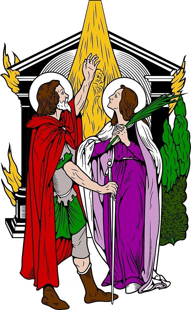 ST JULIAN & ST BASILISSA   by CatholicSaints