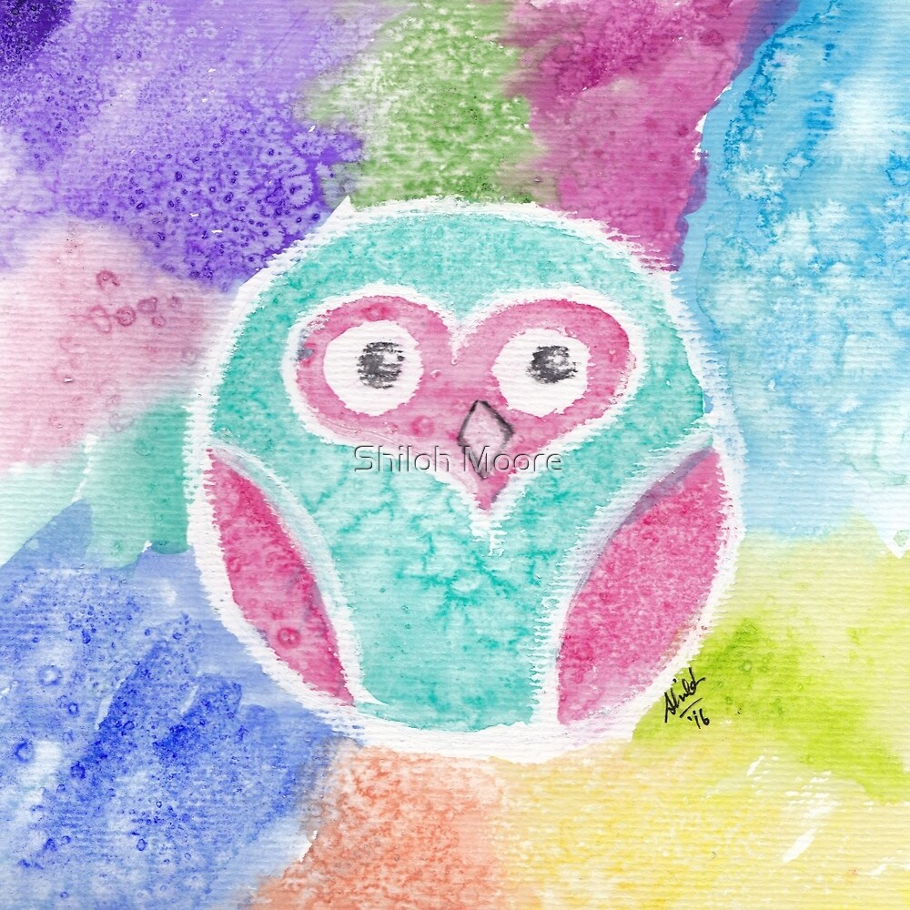 Circular Heart Owl by Shiloh Moore