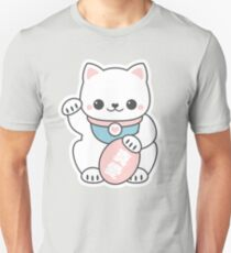 Pink Maneki Neko Unisex T-Shirt