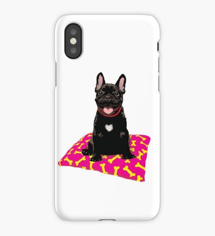 I heart frenchies iPhone Case