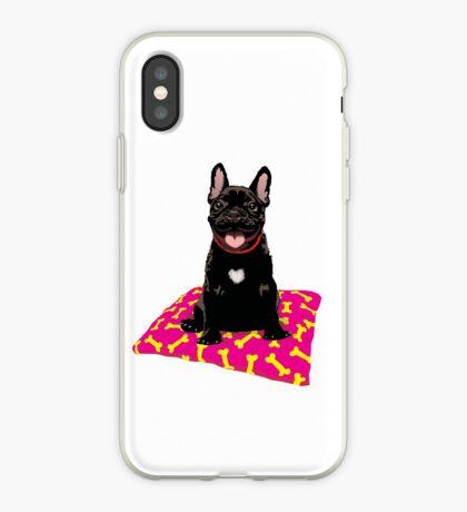 I heart frenchies iPhone Case