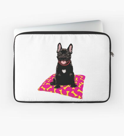 I heart frenchies Laptop Sleeve