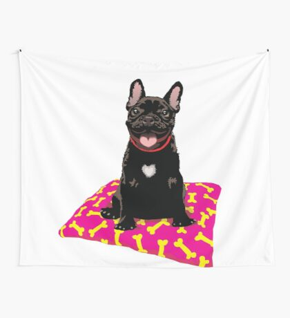 I heart frenchies Wall Tapestry