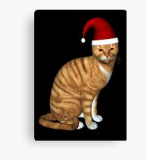 Red Tabby Got Christmas Feeling Canvas Print