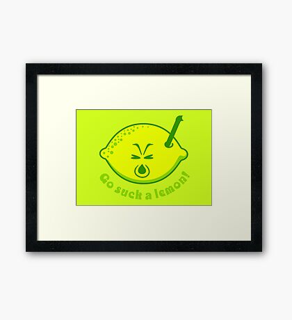 Go suck a lemon VRS2 Framed Print