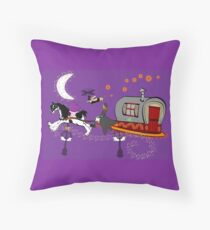 Gypsy Time Travellers Throw Pillow