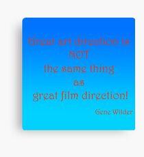 Great Art, Great Film - Gene Wilder Canvas Print