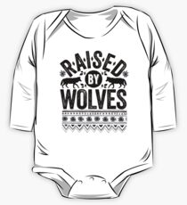 Raised By Wolves {Black + White} One Piece - Long Sleeve