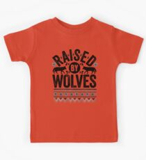 Raised By Wolves {Black + White} Kids Tee