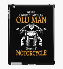Never underestimate an old man iPad Case/Skin