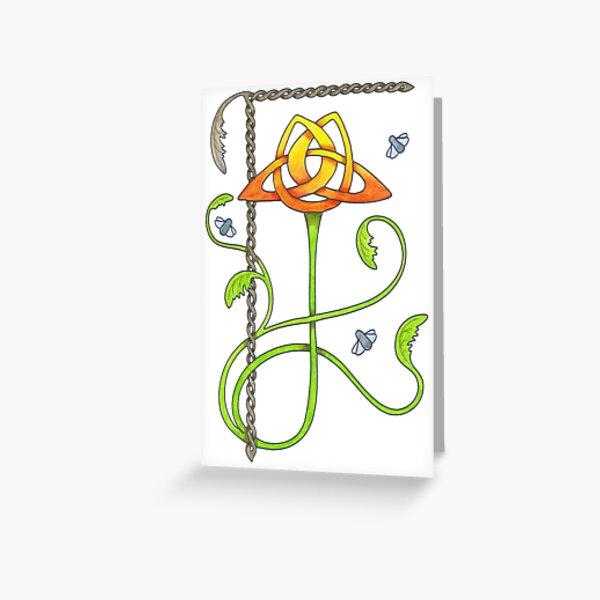 Celtic Tulip Greeting Card