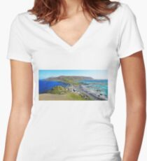 Macquarie Island Station Women's Fitted V-Neck T-Shirt
