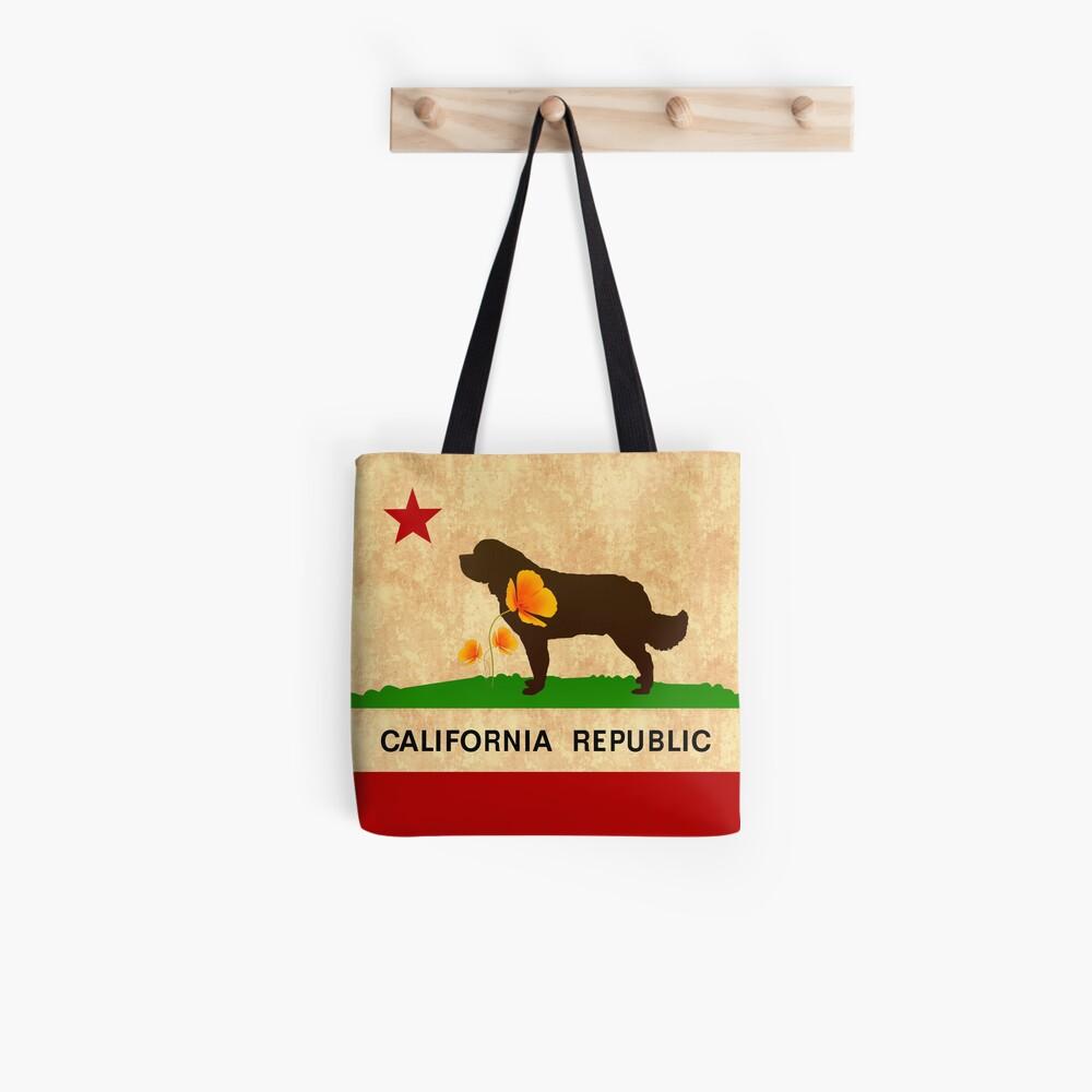 California Newfie Flag Tote Bag