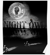 Northern Soul - NIGHT OWL - SCOOTER Poster